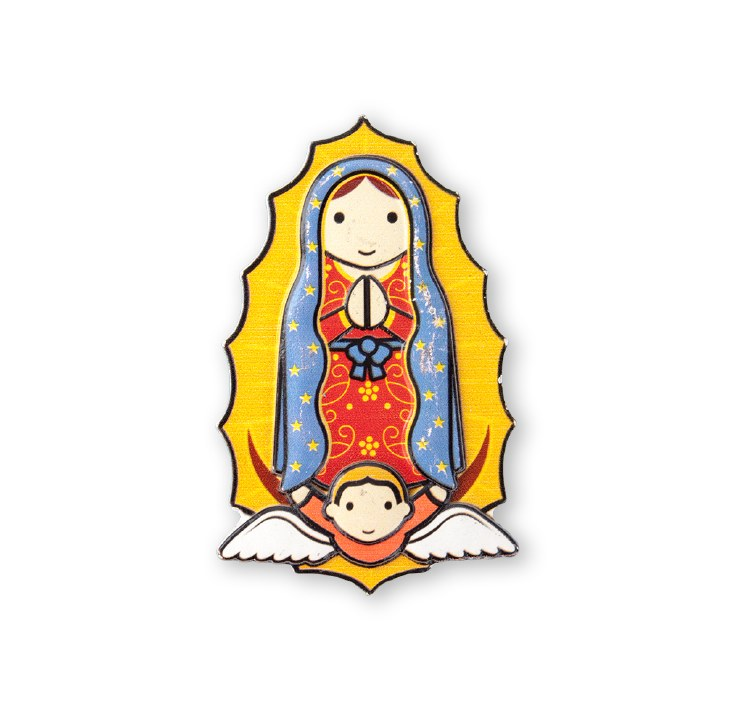 "3"" LITTLE DROPS OF WATER RESIN MAGNET OUR LADY GUADALUPE"