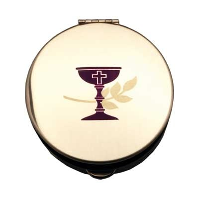 SCREENED CHALICE GOLD COLORED PYX