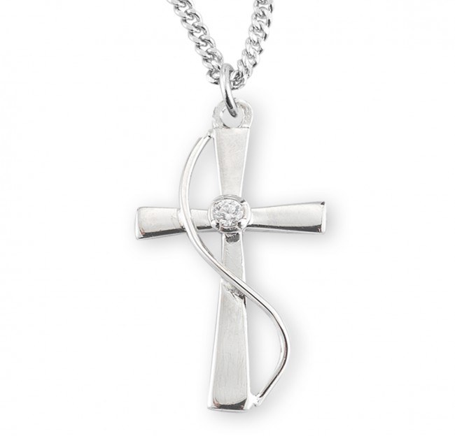SS CROSS WITH SINGLE CRYSTAL