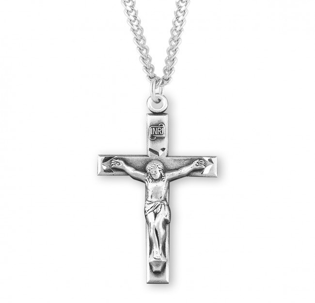 SS HAND ENGRAVED CRUCIFIX