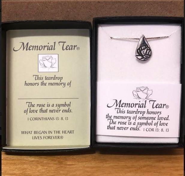 SS MEMORIAL TEAR PENDANT