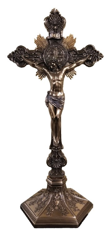 ST BENEDICT STANDING OR WALL CRUCIFIX