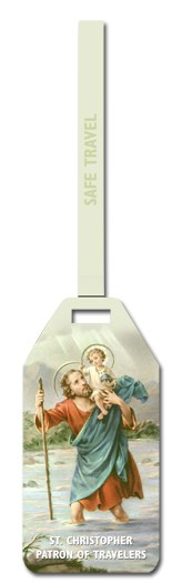 ST CHRISTOPHER LUGGAGE TAG