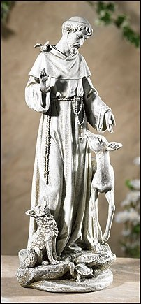ST FRANCIS WITH DEER