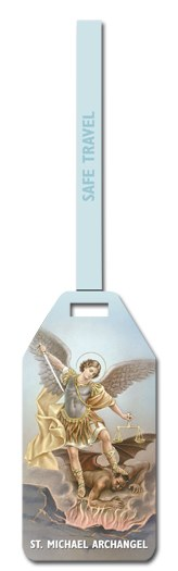 ST MICHAEL LUGGAGE TAG