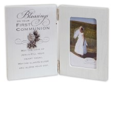 1ST COMMUNION HINGED FRAME WITH BLESSING