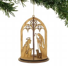3D NATIVITY/HOLY FAMILY ORNAMENT