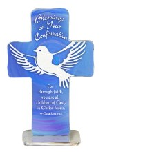 "4"" CONFIRMATION BLESSINGS STANDING CROSS"