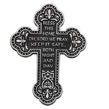 "5.5"" BLESS THIS HOME WALL CROSS"