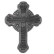 "5.5"" IRISH BLESSING MESSAGE WALL CROSS"