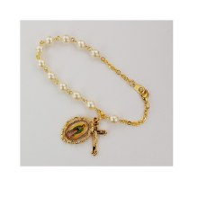 """7.5"""" GOLD PEARL GUADALUPE BRACELET"""