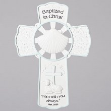 "7.75"" BOY BAPTISM WALL CROSS"