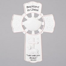 "7.75"" GIRL BAPTISM WALL CROSS"
