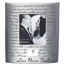 "7"" WEDDING FRAME HOLDS 3.5X4"""