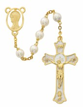 GOLD AND PEARL ROSARY