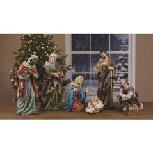 "7PC 28"" NATIVITY PAINTED SET"
