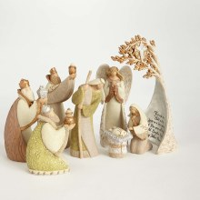 NATIVITY FIGURINE SET/ 8 PIECES