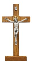 "8"" WALNUT STANDING CRUCIFIX"