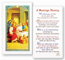 A MARRIAGE BLESSING PRAYER CARD
