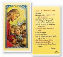 ACT OF CONTRITION PRAYER CARD