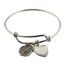ADULT MIRACULOUS PEWTER BANGLE