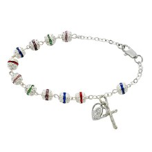ADULT MULTICOLOR ROSARY BRACELET