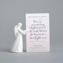 ANGEL  WITH PRAYER CARD HOLDER
