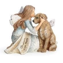 ANGEL WITH DOG