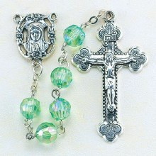 AUGUST PERIDOT BIRTHSTONE ROSARY