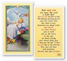 BABY BOY BAPTISM PRAYER CARD