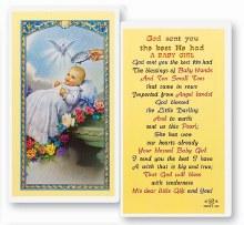 BABY GIRL BAPTISM PRAYER CARD