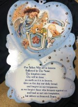 OUR FATHER BABY BOY PLAQUE