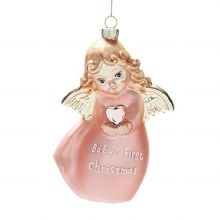 BABY'S 1ST ORNAMENT PINK