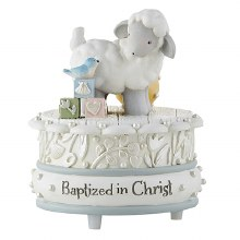 BAPTIZED IN CHRIST MUSICAL FIGURINE