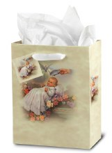 BAPTISM SMALL GIFT BAG WITH TISSUE PAPER