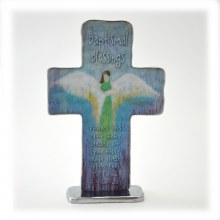 "BAPTISMAL BLESSING 4"" STANDING CROSS"