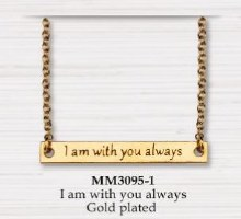 BAR NECKLACE I AM WITH YOU ALWAYS