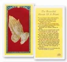 BEAUTIFUL HANDS OF A PRIEST PRAYER CARD