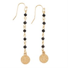 SAINT BENEDICT EARRINGS BLACK/GOLD
