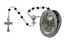BLCK ROSARY W/COMMUNION B
