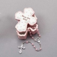 BLESS THIS GIRL BOX WITH ROSARY