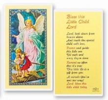 BLESS THIS LITTLE CHILD PRAYER CARD