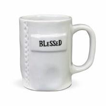 BLESSED WHITE MUG
