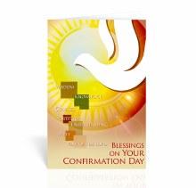HOLY SPIRIT WITH SUN CONFIRMATION CARD