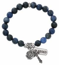 BLUE LAPIS STRETCH ROSARY