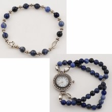BLUE LAPIS ROSARY WATCH