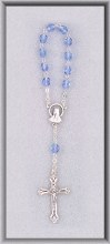 ONE DECADE BLUE ROSARY