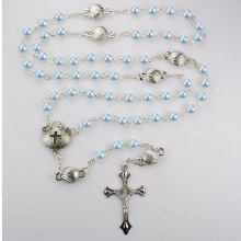 BLUE PEARL SHELL BABY ROSARY