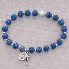 BLUE VENETIAN STRETCH BRACELET