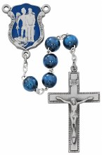 BLUE WOOD POLICE ROSARY
